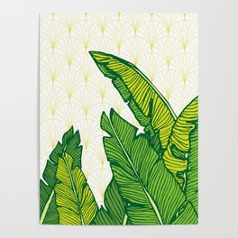 Tropical Leaves #society6 #decor #buyart Poster