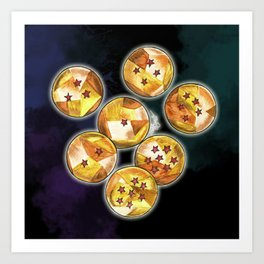 Boules du dragon Art Print