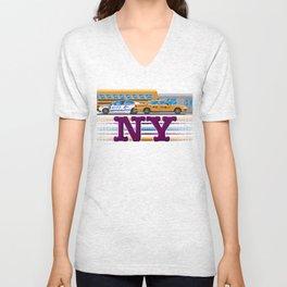 NY Pixel Unisex V-Neck