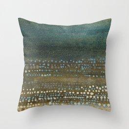 Landscape Dots - Night Throw Pillow