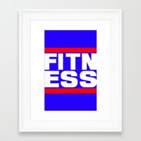 fitness Framed Art Prints featuring Fitness by anto harjo
