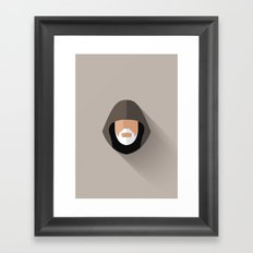 Obi Wan Minimalist Poster Framed Art Print