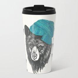 Zissou the bear in blue Travel Mug