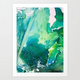 Environmental Importance, Deep Sea Water Bubbles Art Print