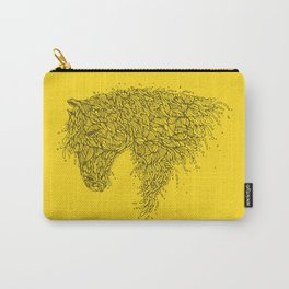 Horsey Yellow Carry-All Pouch
