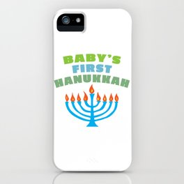 Baby's First Hanukah iPhone Case