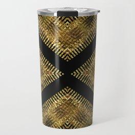 Black Gold | Tribal Geometric Travel Mug