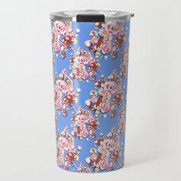 Blue Textile Travel Mug