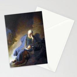 Rembrandt Jeremiah Lamenting the Destruction of Jerusalem Stationery Cards