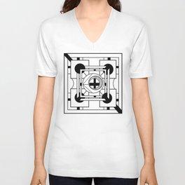 Cornerstone - Minimalist Geometric Abstract Unisex V-Neck
