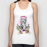 pastel goth Tank Tops featuring Oh my GOTH! by Raquel Amo Art