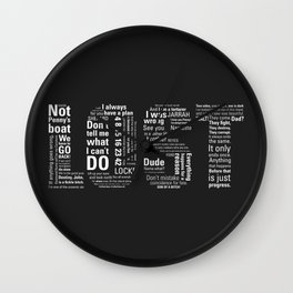 LOST Quotes // Classic Drama Tv Show, Sci-Fi, Geek Wall Clock