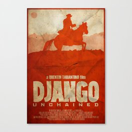 The D is Silent - Django Unchained Poster Canvas Print
