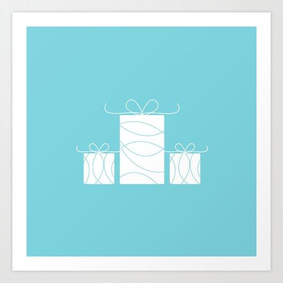 Wedding gift boxes Art Print