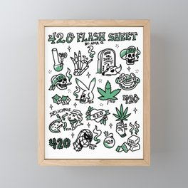 420 Flash Sheet Framed Mini Art Print