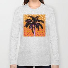 Palm Tree (Orange Pink) Long Sleeve T-shirt