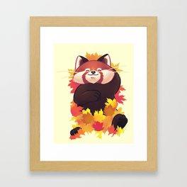 Relaxing Red Panda Framed Art Print
