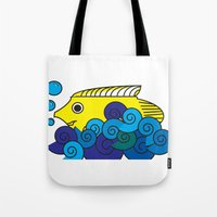 marine Tote Bags featuring Marine by yisuen