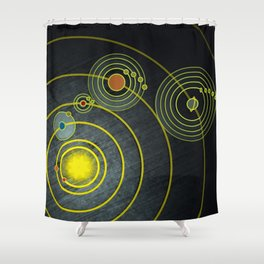 GOLDEN RECORD Shower Curtain