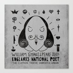 England's National Poet Canvas Print