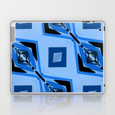 Black and Blue Diamond abstract Laptop & iPad Skin