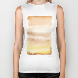 180815 Watercolor Rothko Inspired 2| Colorful Abstract | Modern Watercolor Art Biker Tank