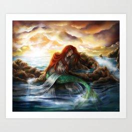Sleeping Siren Art Print