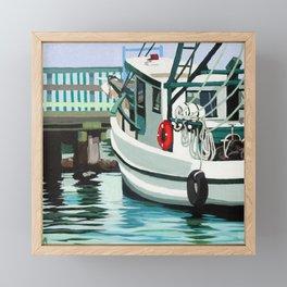 Dock on the Bay Framed Mini Art Print