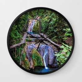 Valley of 33 waterfalls Wall Clock