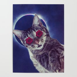 spaced out cat Poster