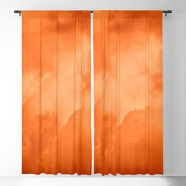 Red Hot Burning Sunset Clouds – Cloudscape Photography Blackout Curtain