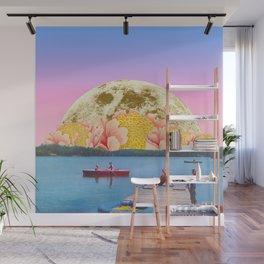 Pink lake Wall Mural