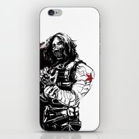 winter soldier iPhone & iPod Skins featuring Winter Soldier by Irene Flores