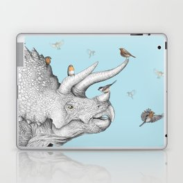 Triceratops and Birdies Laptop & iPad Skin