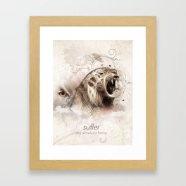 Suffer Framed Art Print
