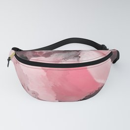 Light Pink Snapdragons Abstract Flowers Fanny Pack