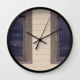 Green Windows Wall Clock