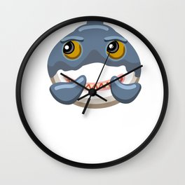 Funny Shark Cartoon Laughing Shark Wall Clock