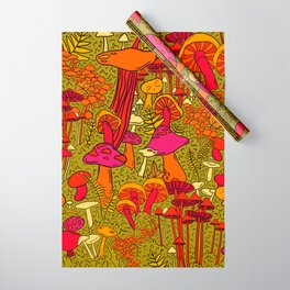 Mushrooms in the Forest Wrapping Paper