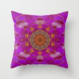 Keep Calm in Orchids and strawberrys Throw Pillow