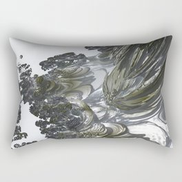 Ducat Waterfall (3D Digital Fractal Art) Rectangular Pillow