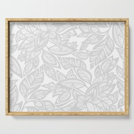 Let Love Grow - gray/white Serving Tray