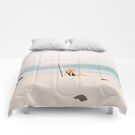 Beach Morning II Comforters