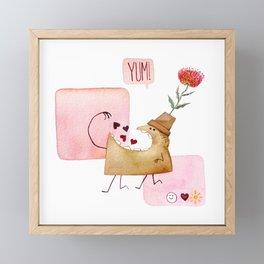 Underbite Valentine Framed Mini Art Print