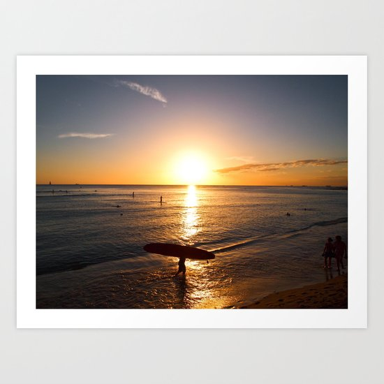 The end of a good day Art Print