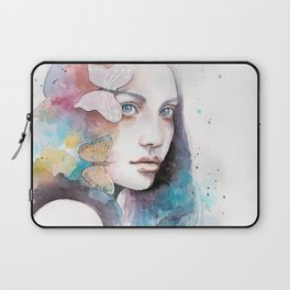 Lady with a butterfly Laptop Sleeve