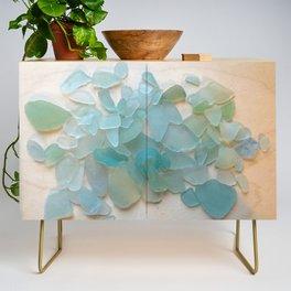 Ocean Hue Sea Glass Credenza