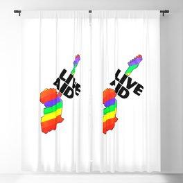 Equality live aid Blackout Curtain