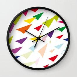 colored arrows Wall Clock