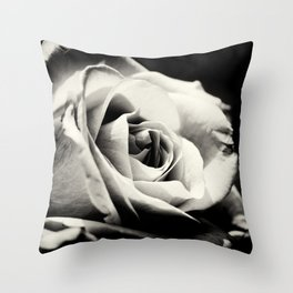 She Blooms Throw Pillow